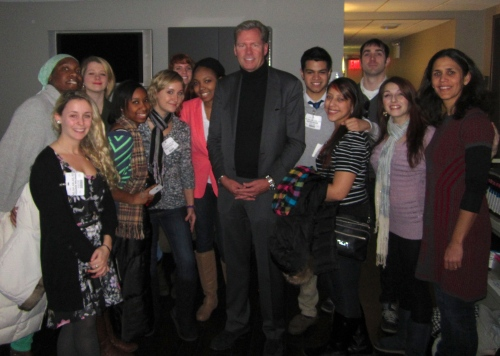 Dateline's Chris Hansen with our Journalism 1 class.