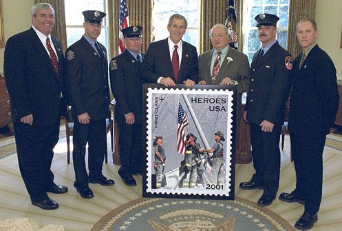 Tom Franklin, far right, with President Bush