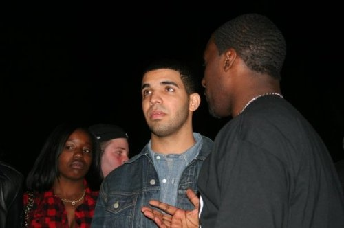 Drake (l) with Kazeem Famuyide at Culture Shock